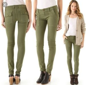Current/Elliott Combat Skinny Army Green Jeans